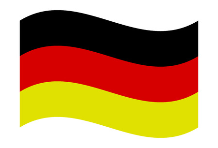 German National Flag Waving Isolated - Official Proportions