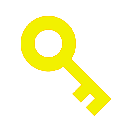 tool unlock: Golden Key Icon Isolated, Concept - Solution, Access, Unlock