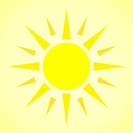 Bright Sun Shinning, Concept - Summer, Heat; Weather Stock Photo