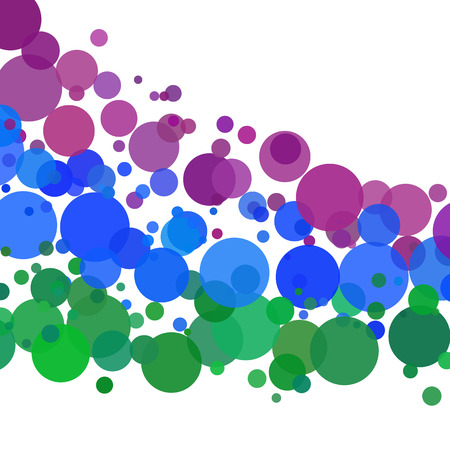 wet paint: Colorful Bubbles Isolated on White Background - Vitality, Life