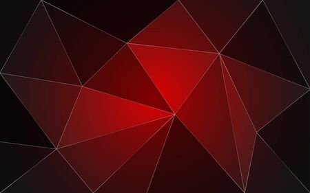 Dark Red Low Poly Triangle Background - Abstract Geometric Wallpaper Reklamní fotografie