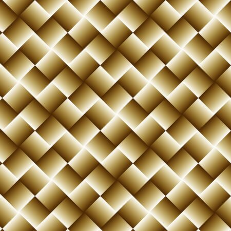 Gold Geometric Background with Squares - Abstract Wallpaper