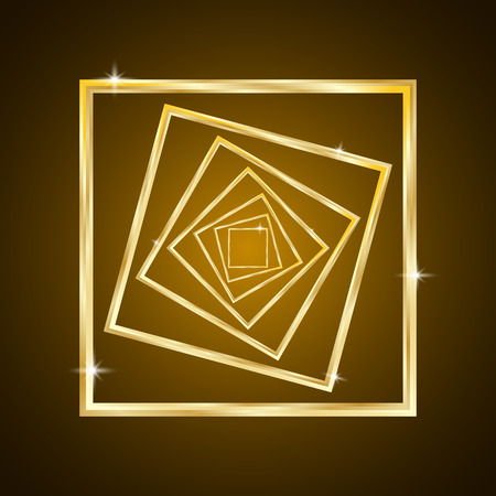 Abstract Gold Square Background, Concept - Life, Path, Destiny
