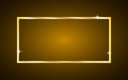 Luxury Shiny Gold Rectangle Background - Geometric Wallpaper