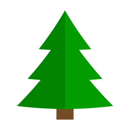 Christmas Tree Doodle Isolated - Merry Christmas!