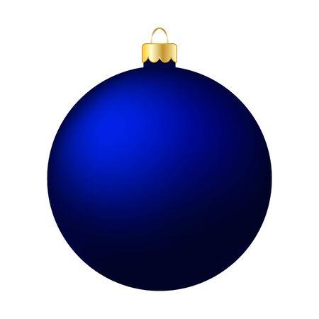Blue Christmas Ball Isolated on White - Merry Christmas! Reklamní fotografie