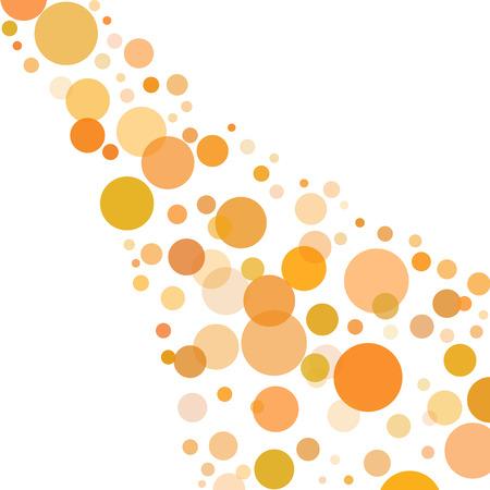 Orange Bubbles Isolated on White Background - Liquid Flow