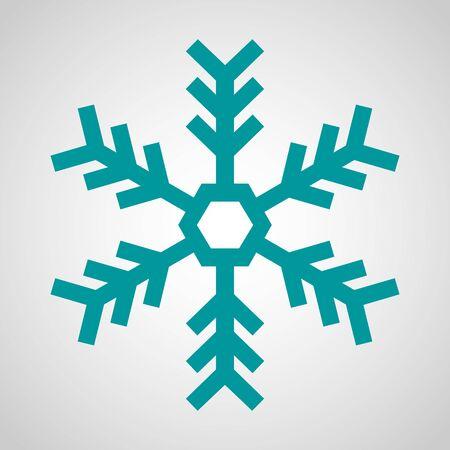 Blue Snowflake Icon - Christmas, Winter, Cold Reklamní fotografie