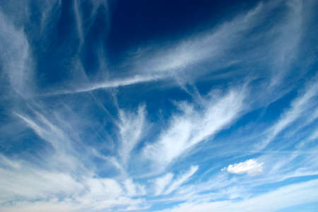 cirrus: cirrus clouds on the blue sky Stock Photo