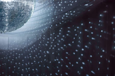 discoball: Shiny disco ball on nightclub good for background