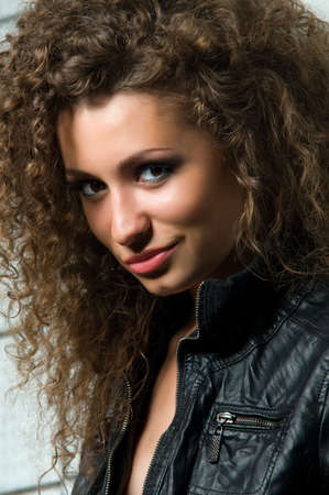 Portrait of young woman with curly hair Stock Photo - 7854043