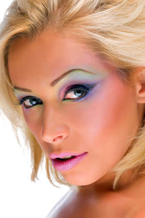 beautiful blonde with a flawless makeup
