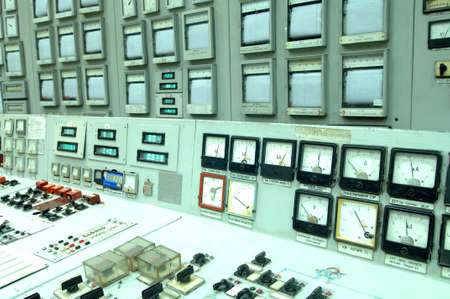 control center: Room interior with computers and various equipment