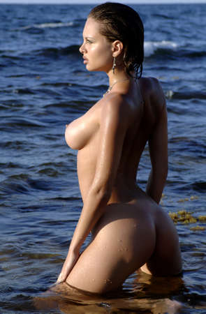 sexy woman in the sea