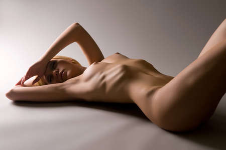 Hot and individual. Portrait of a naked sexy blonde Stock Photo