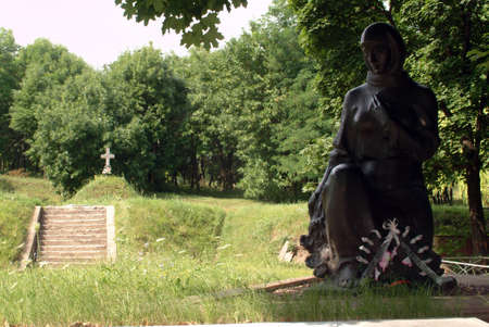 kharkov: Statue of soldiers who died in the forest edge