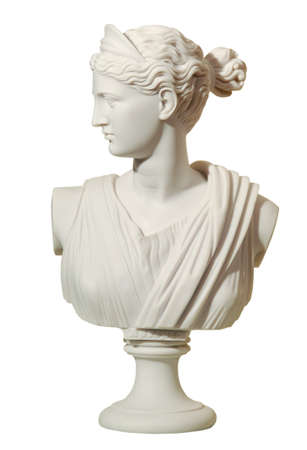 statue of a woman in the antique style on the isolated background