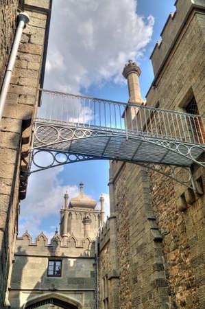 alupka: Footbridge in the Vorontsovsky Palace, in the town of Alupka in Crimea, Ukraine.