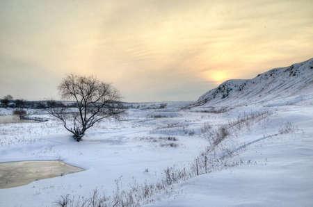 Ukrainian winter landscape with snow and sun Stock Photo - 11353746