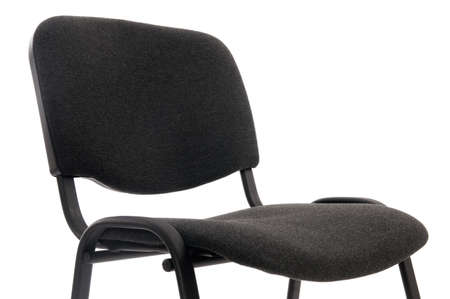 a simple black office chair on white background Stock Photo - 13407880
