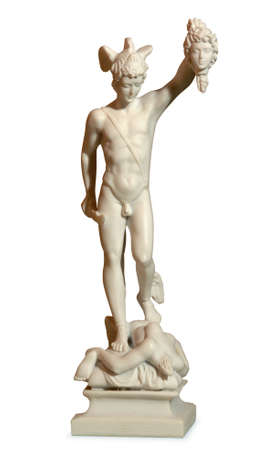 greek god: statue depicting the Greek god Stock Photo