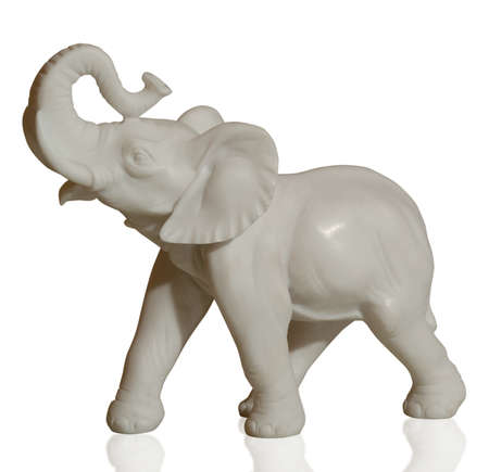 sculpture of an elephant on an isolated background