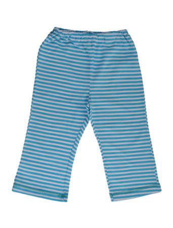 young underwear: Childrens striped pants isolated on a white background Stock Photo
