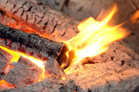 Fire and flames as a heated background Stock Photo - 16212028