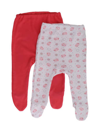 baby's: babys pants on over the white background