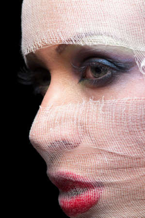 portrait of a woman in a gauze bandage Stock Photo - 17445104
