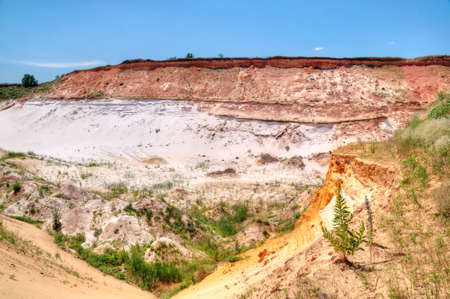 sand quarry: Sand quarry for the extraction of sand