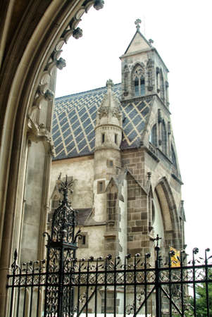 The gothic cathedral, beautiful sculptures photographed close-up photo
