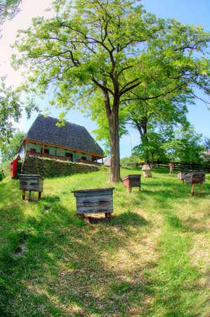 rickety: old wooden house, a museum Uzhhorod Ukraine