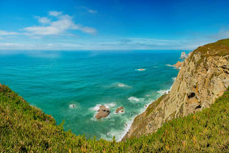Coast of Portugal, Cape Cabo da Roca - the westernmost point of Europe. Picturesque rocks. photo