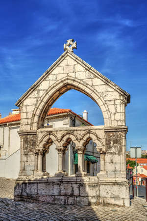 Day street with memorial de Odivelas, Portugal. District of Lisbon. photo