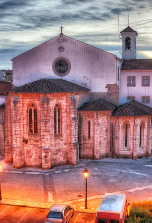 The Monastery of Sao Dinis in Odivelas, Portugal. Beautiful evening view. District of Lisbon. photo