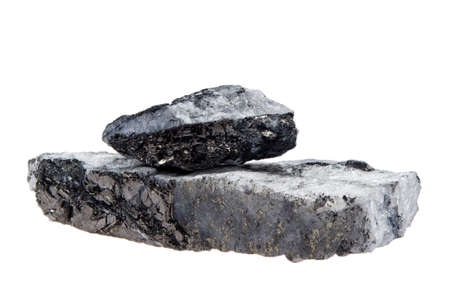 sulfide: Coal pyrite isolated on white a beautiful piece