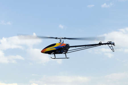 controlled: Flying remote controlled helicopter