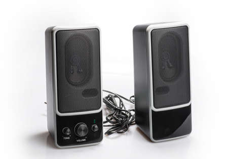 Audio system for mobile phones, computer and laptops with amplifier. photo