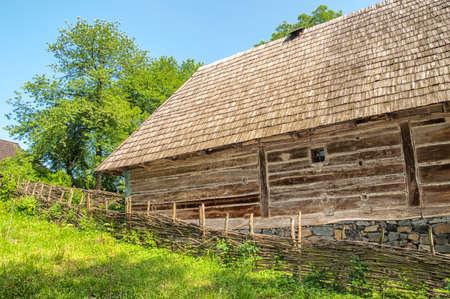 lopsided: old wooden house, a museum Uzhhorod Ukraine