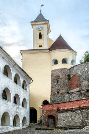 14th century: View of old Palanok Castle or Mukachevo Castle, Ukraine, built in 14th century Editorial