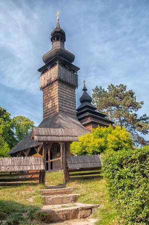 relocated: Uzhhorod, Church of the Holy Archangel Michael Originally located at Shelestovo near Mukachevo, relocated to the Museum of Folk Architecture in Uzhhorod in 1974 Built 1777, greek-catholic