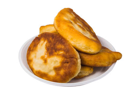 selected: Pirojki. Traditional delicious Russian patty with potatoes and meat