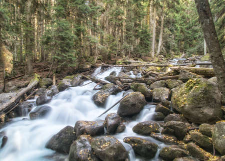 dombai: River Ullu-Murudzhu in Dombai, Karachai, Caucasus, Russia.