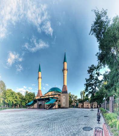 donetsk: Beautiful sunset Mosque in Donetsk, Ukraine.