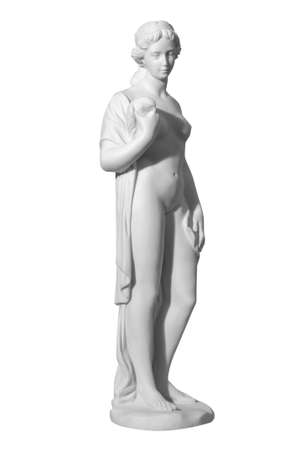 naked statue: statue of a naked woman on a white background