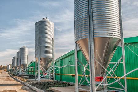 agricultural large industrial factory farm Foto de archivo