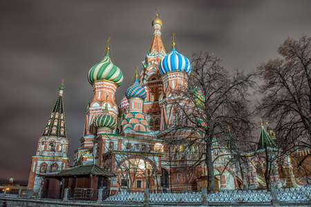 Moscow, Russia, Red square, view of St. Basils Cathedral