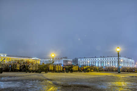 ST. PETERSBURG, RUSSIA - January 27.2017: Day of Military Glory of Russia - Day of complete liberation of Leningrad from the fascist blockade (1944)