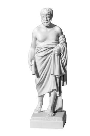 Classic marble statue of a man on a white background Stock Photo